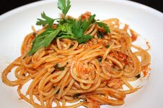 Spaghetti al sugo d'astice.