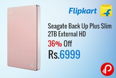 Flipkart #DealoftheDay is offering Seagate Back Up Plus Slim 2 TB External Hard Drive Rose Gold at Rs.6999. Connectivity: USB 3.0, 3 Years Warranty.  http://www.paisebachaoindia.com/seagate-back-up-plus-slim-2tb-external-hd-36-off-at-rs-6999-flipkart/