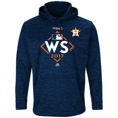 Men's Houston Astros Majestic Navy 2017 World Series Bound Streak Fleece Pullover Hoodie