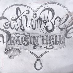 """Southern Belle Raisin' Hell"" Design for sale. Items like shirts, bags, phone cases, wall art, pillow and mugs are available with this design."