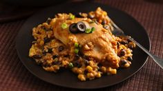 Enjoy this Spanish-style skillet dinner featuring chicken, rice, Progresso® black beans and Green Giant® corn--made using Progresso™ Recipe Starters™ creamy roasted garlic with chicken stock cooking sauce.
