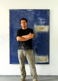 Christian Hetzel-The works reflect my attitude of life and of painting 'less is more'. In times of overload of visual impressions, I try to send the viewer on a journey of discovery across the painting surface and sensitive him for the few and less in color, structures, cracks and textures.