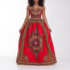 Women Wrap chest  African dashiki Print  Party Casual Kaftan maxi Dress wedding
