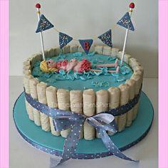 Zwemdiploma B taart