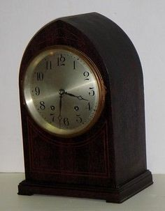 ANTIQUE SETH THOMAS 15 DAY BEEHIVE MANTEL CHIME CLOCK WITH INLAY WORKING
