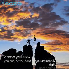 """""""Whether you think you can, or you can't, you are usually right."""" -Henry Ford #MotivationalMonday"""