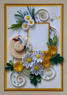 Greeting Card by Neli Quilling. Would also look great as a picture frame.
