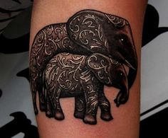 I'm very attracted to [the idea of] elephant tattoos, and the detailing on these are just beautiful