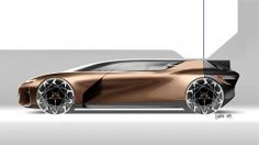 Renault Symbioz Concept Design Sketch Render by Joe Reeve