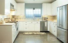 U-shaped kitchen, colour scheme