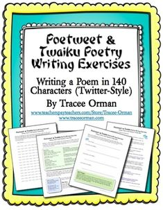 FREE download - Poetry Activity Twitter-Style: Writing a Poetweet or Twaiku