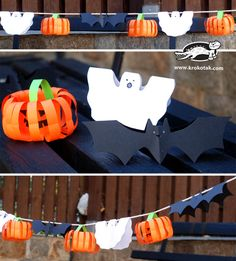 Easy paper decoration for Halloween