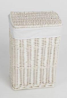 White Wicker Laundry Basket Google Search