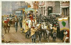 While Carnival, the festive season before Christian Lent, is not generally celebrated in the United States, postcards were produced for Mardi Gras (Fat Tuesday). Description from metropostcard.com. I searched for this on bing.com/images