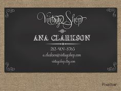 Chalkboard Business Card Design No.112 by pixelbar on Etsy, $12.00
