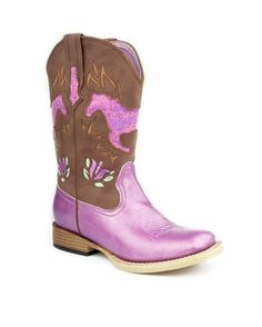 Kid's Wide Square Toe Boot - Pink