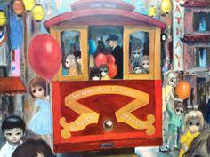 Sunday in Chinatown  Big Eye Girl  Margaret Keane by BellaMercato
