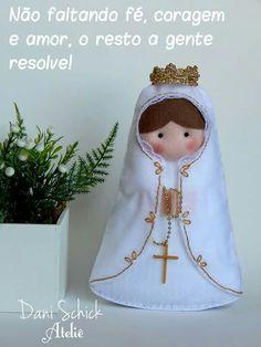 Nossa senhora de Fátima. Santa em feltro                                                                                                                                                     Mais