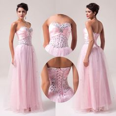 Sweetheart Sequins Women Long Sexy Prom Ball Gown Pageant Formal Evening Dresses #GK #BallGown #Formal