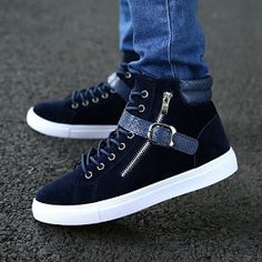 Cheap sneaker manufacture, Buy Quality sneakers accessories directly from China sneaker boot Suppliers: 2014 Hot Men Shoes Sapatos Tenis Masculino Male Fashion Spring Autumn Leather Shoe For Men Casual High Top Shoes Canvas Tenis Casual, Casual Sneakers, Casual Shoes, Ankle Boots Men, Leather Ankle Boots, Pu Leather, Top Shoes, Men's Shoes, Shoes Men