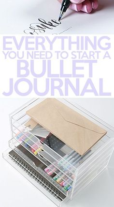 If you want to start a bullet journal, you're gonna need some bullet journal supplies! You really don't need anything fancy, but there are a few basics you should look into before you make your bullet journal.