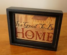Rustic Country Primitive Sheep Farm House Shadow Box Sign IT'S GOOD TO BE HOME  #KennedysCountryCollection #Country
