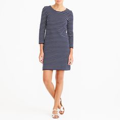 Jcrew Maritime Stripe Dress Blue White