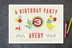 Birthday Jamboree Children's Birthday Party Invitations by Lori Wemple at minted.com