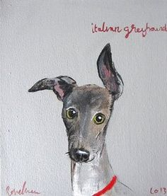 great dane italian greyhound art - Google Search