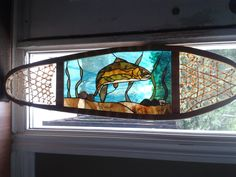 Stained Glass Trout Snowshoe