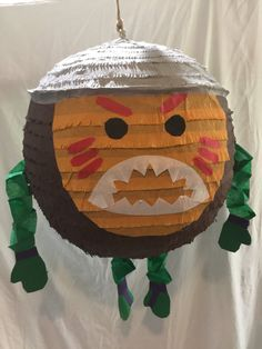 Just like the pirates Disneys Moana, this cute coconut Pinata will be cool addition to your Hawaiian themed party. It comes with a flap already cut into it to load it up with candy and a sturdy metal ring to tie the rope to hang it from. Our piñatas come in two types. The breakable piñata is your standard traditional piñata that you can bash with a stick for the candy. The Pull string is a non-breakable type that is used when you have small children that you wouldnt want swinging a bat, if…