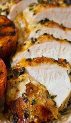 Grilled Basil Garlic Chicken Breasts - Enjoy #healthy #chicken #recipes