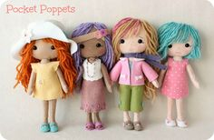 Pocket Poppets are fun and easy to make and measure about 8.5 inches tall. You get to make the doll, her basic dress and ballet shoes and ALL the