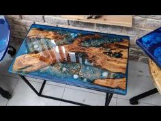 sea shells ,olive wood and sand resin coffee table - Agartha Workshop - ETSY Epoxy Wood Table, Wood Slab Table, Diy Table Legs, Diy Table Top, Shells And Sand, Sea Shells, Resin Crafts, Wood Crafts, Epoxy Resin Art