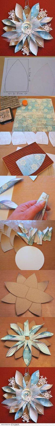 DIY Paper Ornaments diy craft crafts christmas diy crafts how to tutorial origami winter crafts christmas crafts Handmade Flowers, Diy Flowers, Fabric Flowers, Paper Flowers, White Flowers, Christmas Projects, Holiday Crafts, Christmas Holidays, Christmas Star