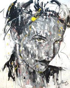 YELLOW Acrylique & fusain sur toile 100x80cm 2015 http://www.lucile.callegari.fr