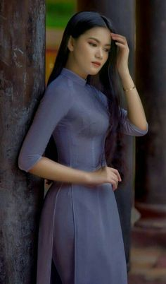 Vietnamese Traditional Dress, Traditional Dresses, Transparent Dress, Vietnam Girl, Ao Dai, Girls Image, Asian Girl, Honey, High Neck Dress