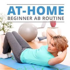 At Home Beginner Ab Routine - get flat abs from HOME!  #abs #flatabs #flatbelly