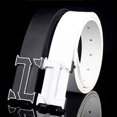 White H Designer Luxury Brand Belts for Mens Genuine Leather Male Women Casual Jeans Vintage Fashion High Quality Strap Waist