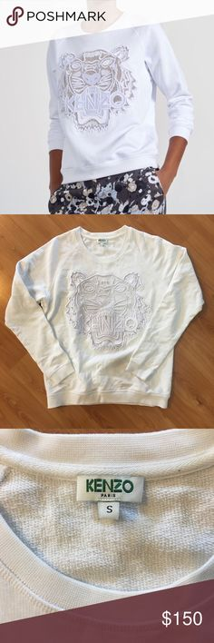 Kenzo Sweater Mesh is torn in one area as shown, other than that in excellent condition. No stains. Kenzo Sweaters Crew & Scoop Necks