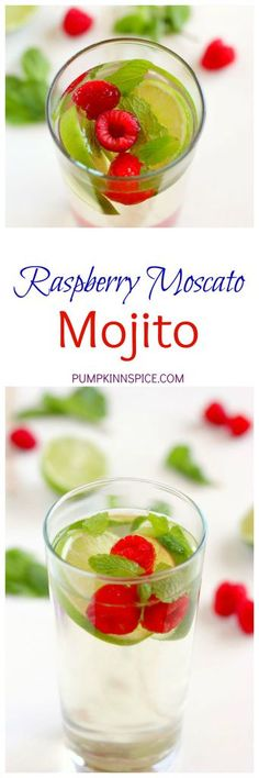 This Raspberry Moscato Mojito is filled with sweet Moscato, fresh ...