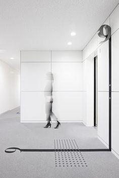 High-gloss white panel