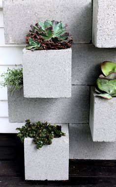 THE DIY ON BLOCK CONTAINER GARDEN...OK FIRST REALLY DETAILED DIY I HAVE FOUND...SHE EVEN TELLS THE GLUE THAT SHE FOUND THAT REALLY WORKS.  LET INSPIRATION TAKE WING NOW BABY.