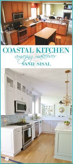 Coastal Kitchen Makeover   Sandandsisal.com   Gorgeous Kitchen Renovation  From Kim At Sand And