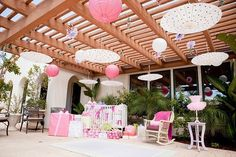 Outside décor for baby shower! Good thing I already have 1/2 of these items!