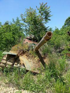 Tank graveyard - Fort Knox, Kentucky