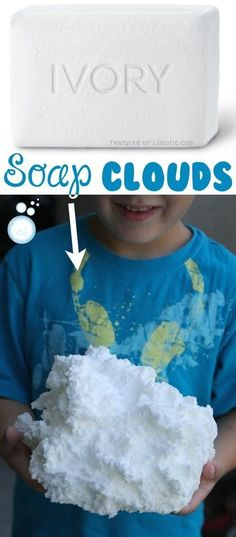 Soap Clouds... The most fun you'll ever have with your microwave! -- 29 creative activities for kids that parents will actually enjoy doing, too!