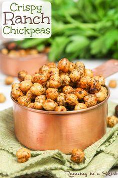 Roasted Crispy Ranch Chickpeas recipe