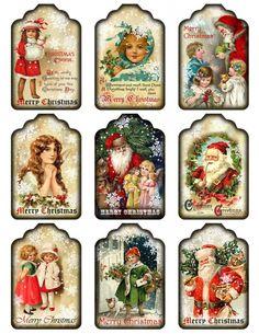 Sheet kerst labels