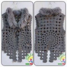 Crochet Jacket Pattern, Crochet Doily Patterns, Crochet Patterns For Beginners, Crochet Lace, Free Crochet, Crochet Crafts, Crochet Projects, Crochet Handbags, Crochet Fashion